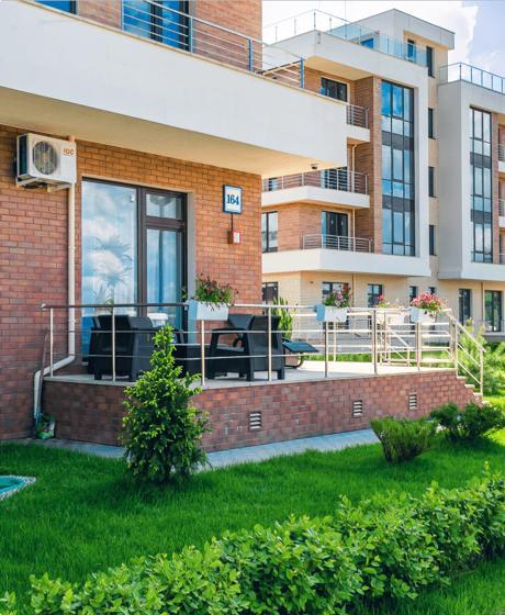 Квартира с террасой и участком, 1 этаж 1