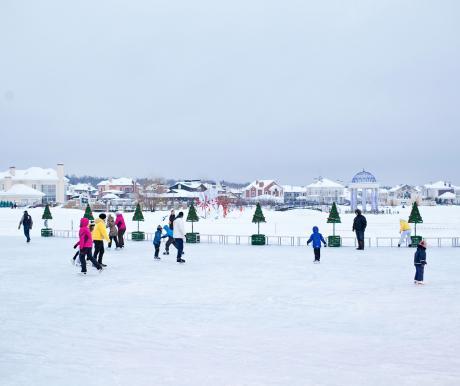 В поселках Villagio estate работают ледовые катки